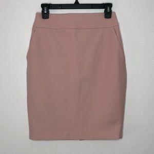 Express Light Pink Pencil Skirt